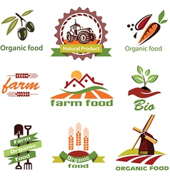 farm agriculture icons labels collection set1 vector image