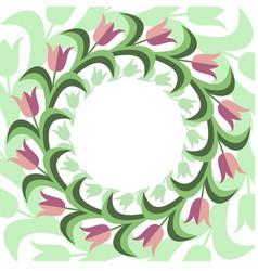 Flat stile floral background vector