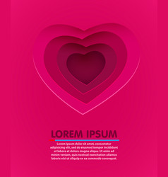 love heart form paper cut style valentines day vector image vector image