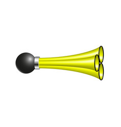 triple air horn in yellow design vector image vector image