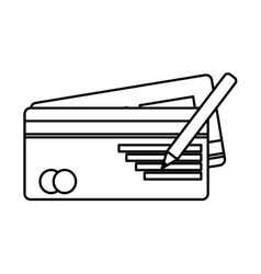 bank check isolated icon vector image