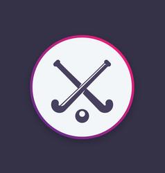 Field hockey icon logo vector