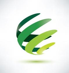 sphere ribbon green vector image vector image
