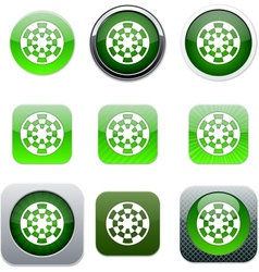 Target green app icons vector image vector image
