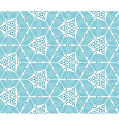Blue Seamless Monochrome Pattern vector image