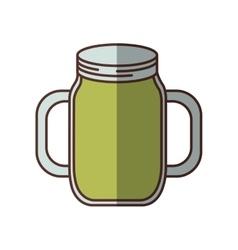 green jar jam delicious juicy handle shadow vector image