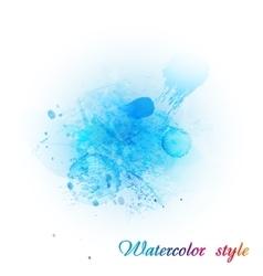 Imitation blue watercolor vector