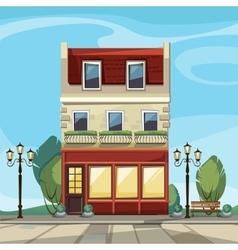 Old Europian Shop Boutique Museum Cafe vector image