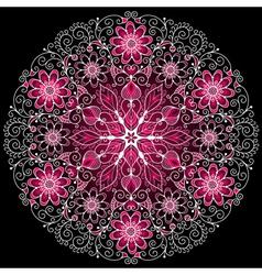 round floral vintage pattern vector image vector image