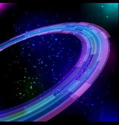 shining neon circles baclground vector image