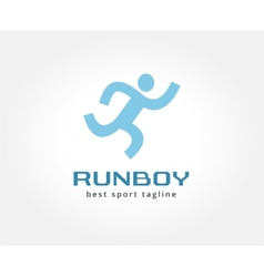 Abstract running people logo icon concept Logotype vector image