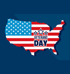 american veterans day concept background flat vector image