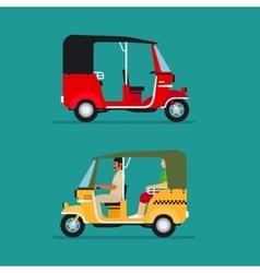 Asian auto rickshaw taxi vector