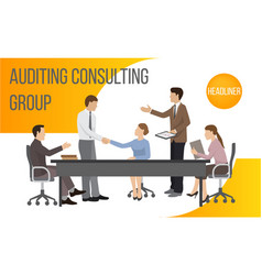 Auditing consult group banner vector