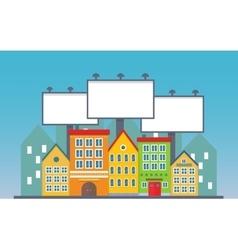 Big three blank urban billboard together over vector image