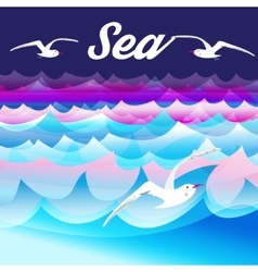 Bright sea background vector