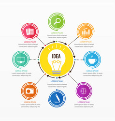 business and brainstorming infographic design vector image