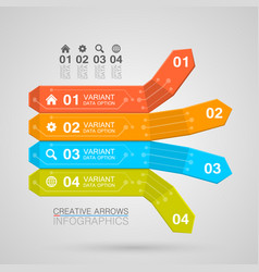 Business infographics arrow origami style vector