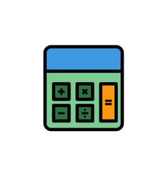 calculator flat icon sign symbol vector image