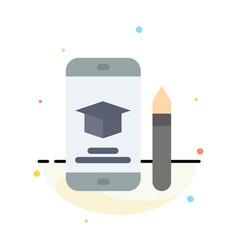 cap education graduation mobile pencil abstract vector image