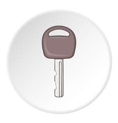 Car key icon cartoon style vector image