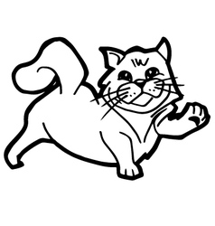 cartoon Cat Coloring Page for kid vector image