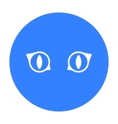 Cat eyes icon of for web and vector