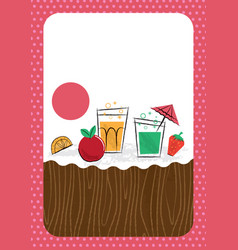 Children birthday or cocktail party invitation vector