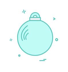 christmas balls icon design vector image