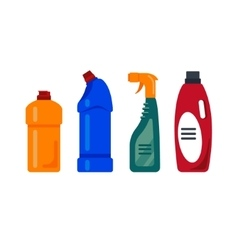 Cleaning service Cleancer house tools icons logo vector