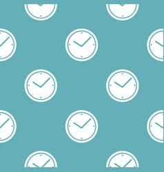 clock pattern seamless blue vector image