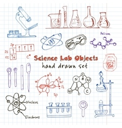 Collection of hand drawn doodle science vector image
