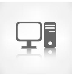 Computer web icon vector image