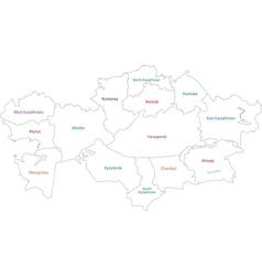 Contour Kazakhstan map vector image