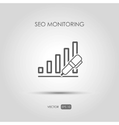 Copywriting icon SEO monitoring in linear style vector image