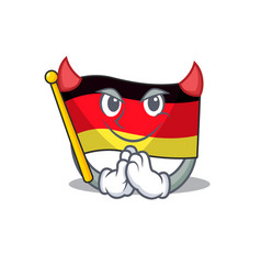 Devil flag germany cartoon formed with character vector