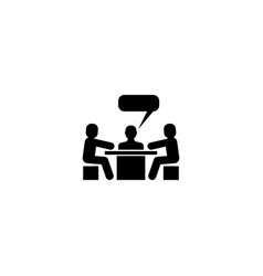 discussion meeting conversation flat icon vector image