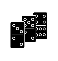 Dominoes black glyph icon vector