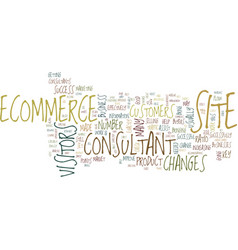 Ecommerce consultant text background word vector