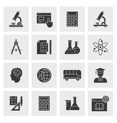 education icon set isolated for vector image