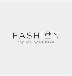 fashion bag shoping simple text logo type vector image