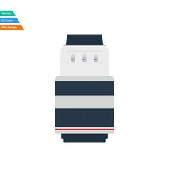 Flat design icon of photo camera zoom lens in ui vector