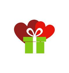 gift heart love valentine logo vector image