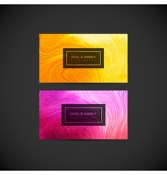 Greeting invitation or business cards design vector