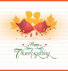 Happy thankgiving with acorns greeting card vector