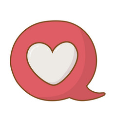 heart into a speech bubble vector image