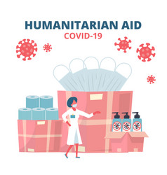 Humanitarian support goodwill mission in vector