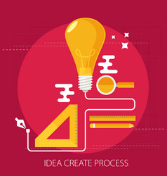 idea creating process concept flat vector image