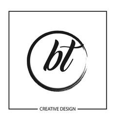 Initial letter bt logo template design vector
