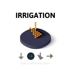 Irrigation icon in different style vector